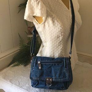 VINTAGE Denim Hippi Boho Crossbody Jeans Bag